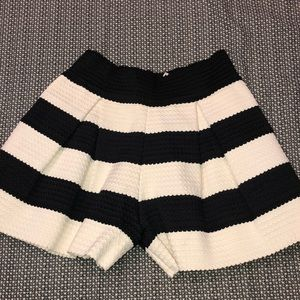 Polyester Striped shorts